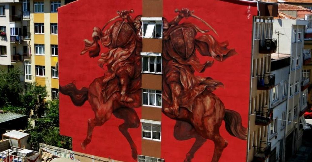 Kadıköy'deki Sokak Sanatı Eserleri Gif'e Dönüştü
