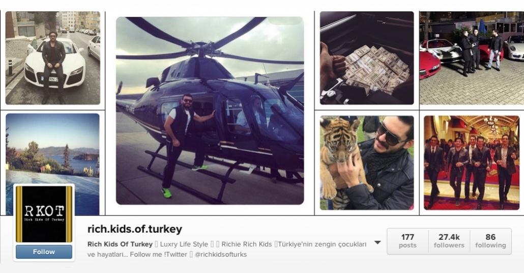 Instagram'ın ve Türkiye'nin Zengin Çocukları
