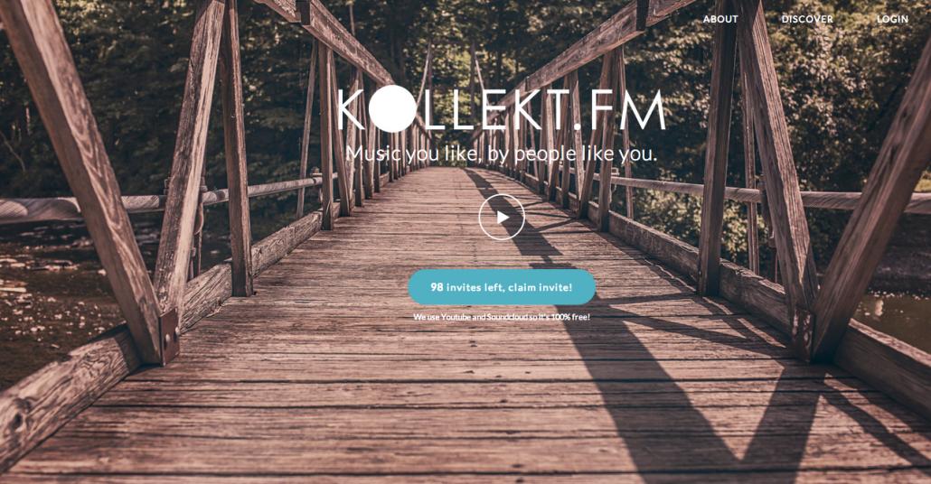 Kollekt.fm Müzik Verinizi Derleyip Çalma Listeleri Oluşturuyor