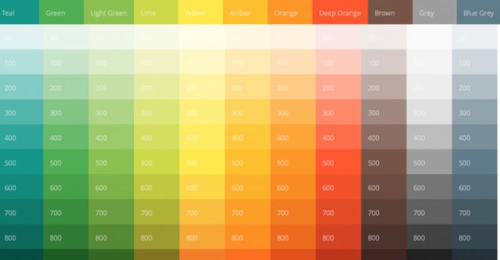 Tasarımcılar ve Geliştiriciler için Google Material Design Renkleri