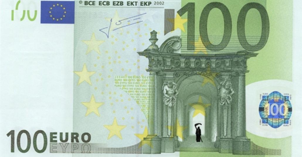 Euro Banknotlarında Yunanistan'dan Eleştirel Çizimler