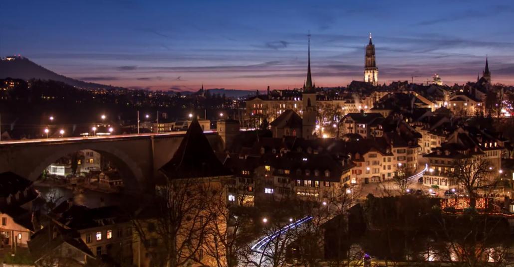İsviçre'nin Başkentinin Hızlandırılmış Görüntüsü