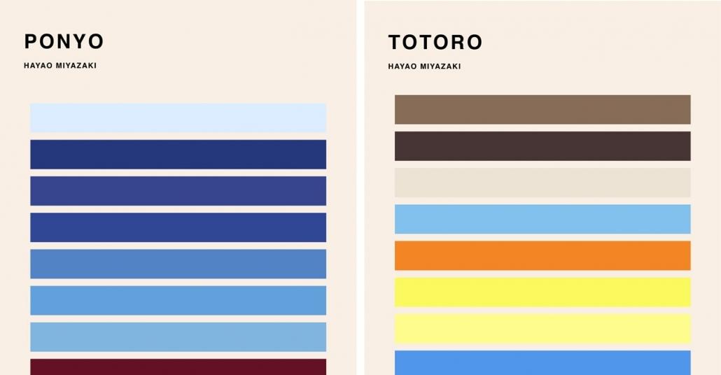 Miyazaki Filmlerinden Esinlenilmiş Renk Paletleri