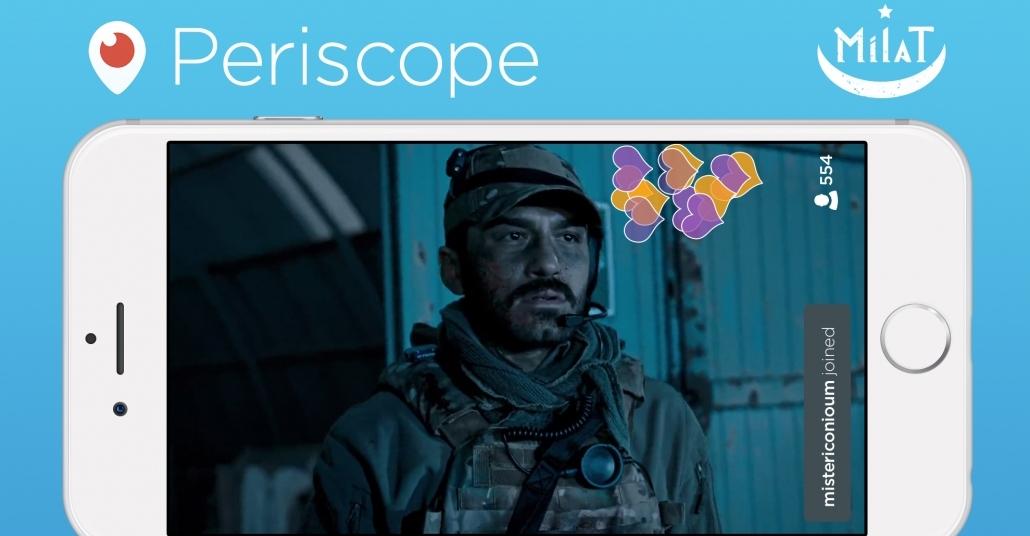TRT'den TV ile Eşzamanlı Periscope Yayını