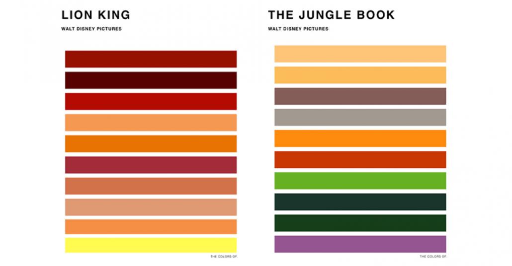 Disney Filmlerinden Esinlenilmiş Renk Paletleri