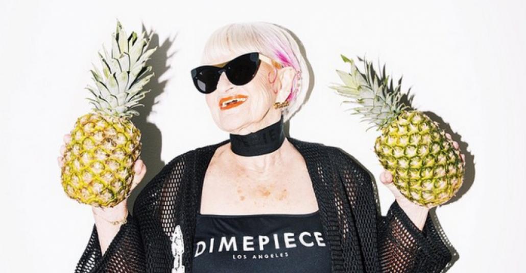 86'lık Instagram Fenomeni, Dimepiece'in Modeli Oldu