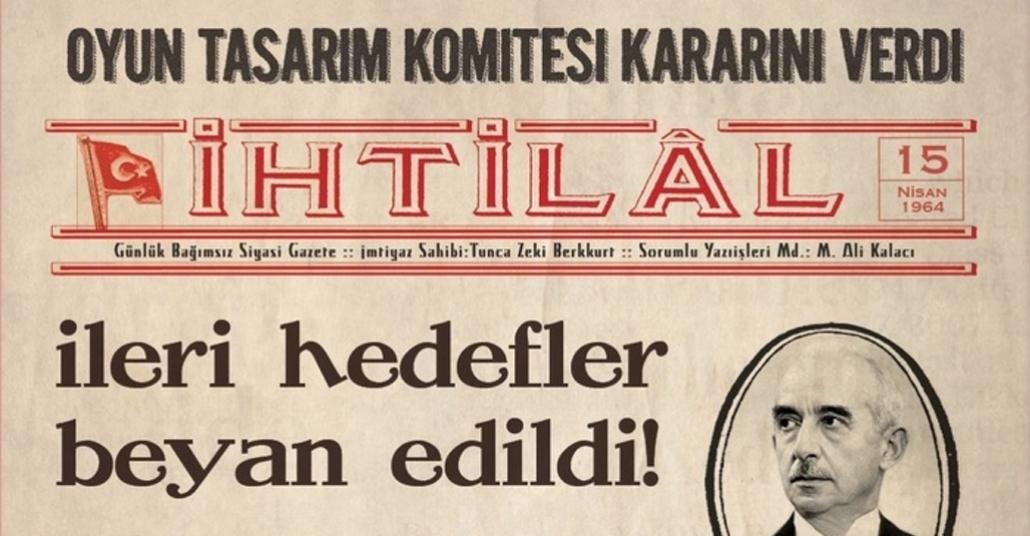 İhtilal: Türkiye Yakın Tarihine Odaklı Masaüstü Strateji Oyunu