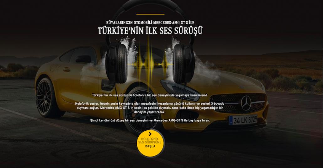 Mercedes İle Türkiye'nin İlk Ses Sürüşü