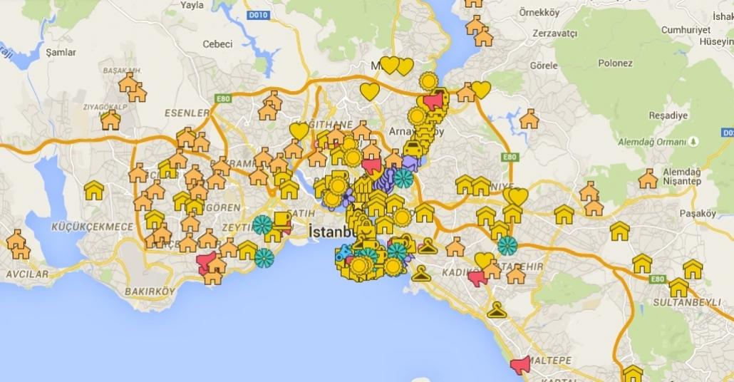 İstanbul Paylaşım Haritası