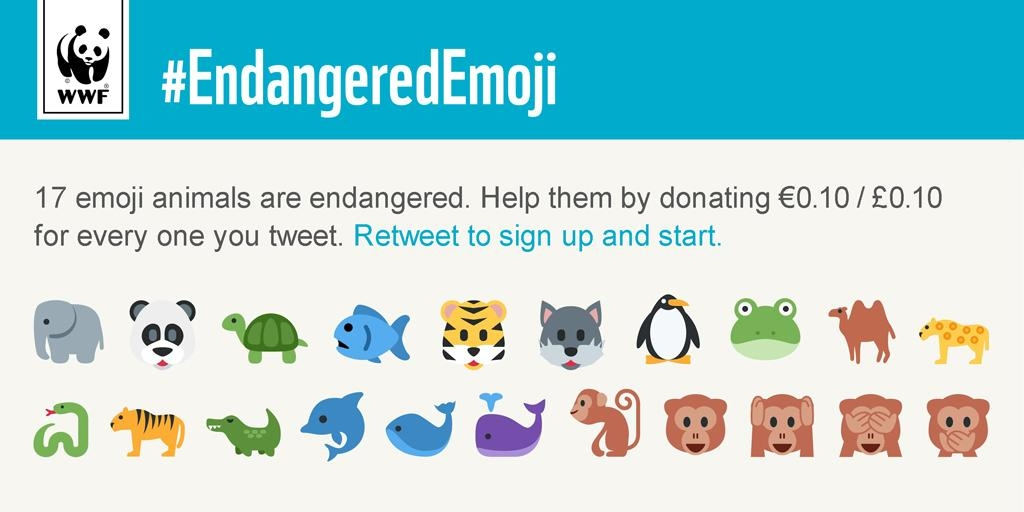 Endangered Emoji: Nesli Tükenmekte Olan Hayvanları Emojileriyle Kurtarın