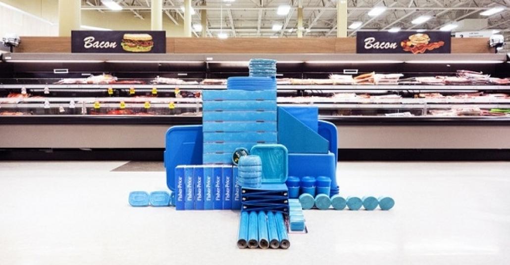 Süpermarketlerdeki Ürünlerle Doğaçlama Yapılan Yerleştirmeler