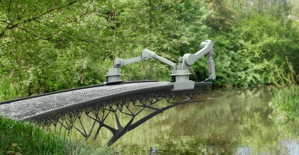 Çeliği İşleyip Köprü Yapan 3B Yazıcılar