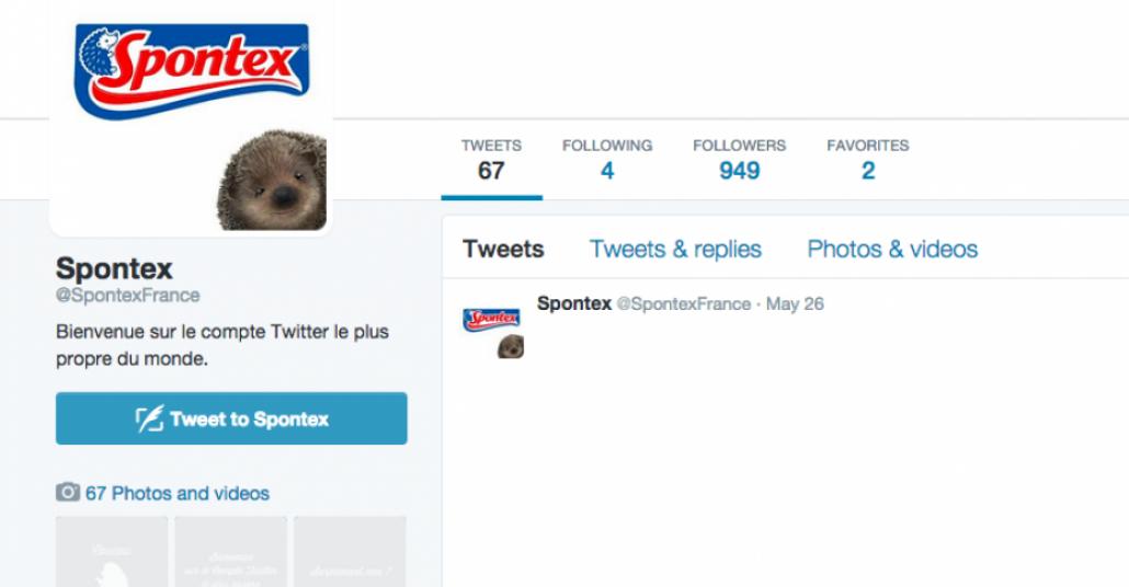 Spontex'in Pırıl Pırıl Twitter Hesabı