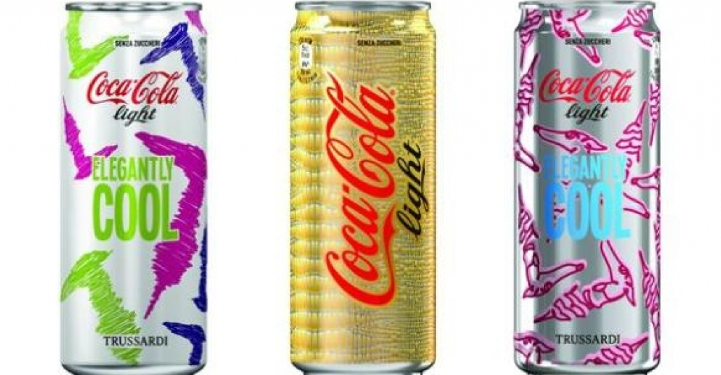 Coca-Cola kutularına Trussardi Dokunuşu