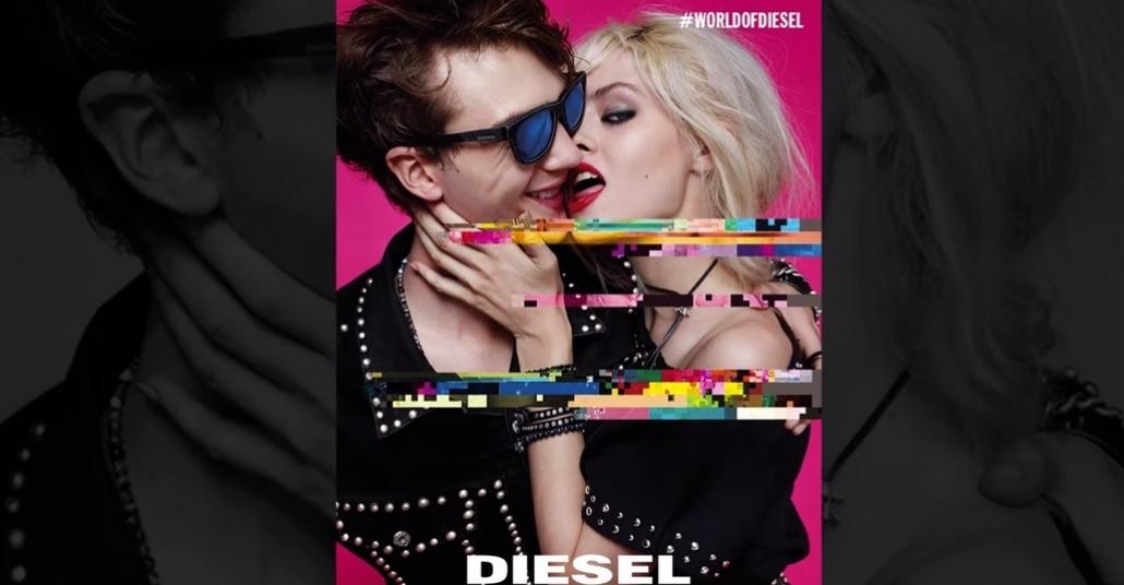 Diesel'den Glitch'in Özünü Kullanan Parti Davetiyesi