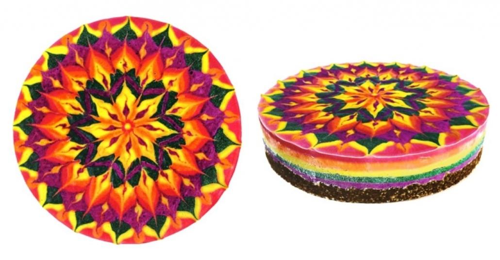 Mandala ile Süslenmiş Vegan Kekler