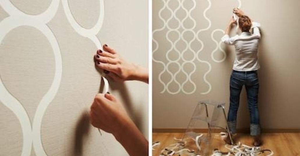 Yırtarak Şekil Verilen Duvar Kağıtları