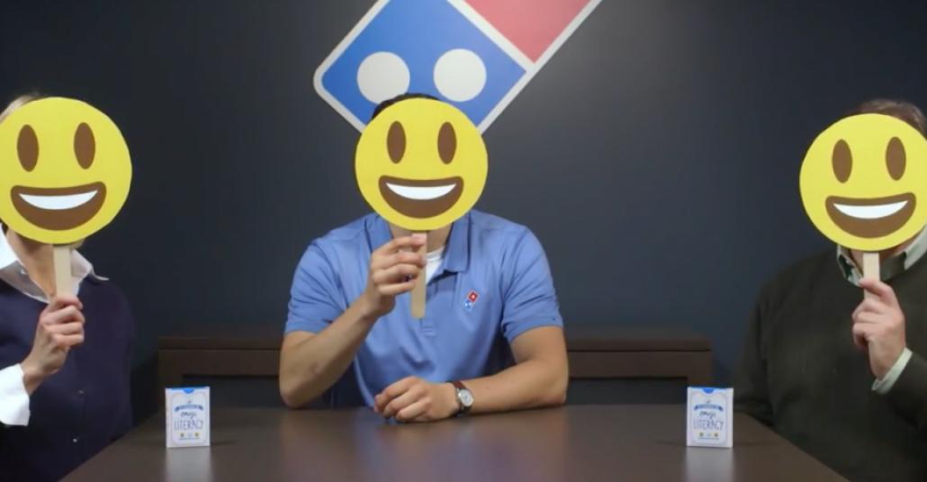 Emoji Diliyle İletişim Sanatı Domino's Pizzadan Soruluyor