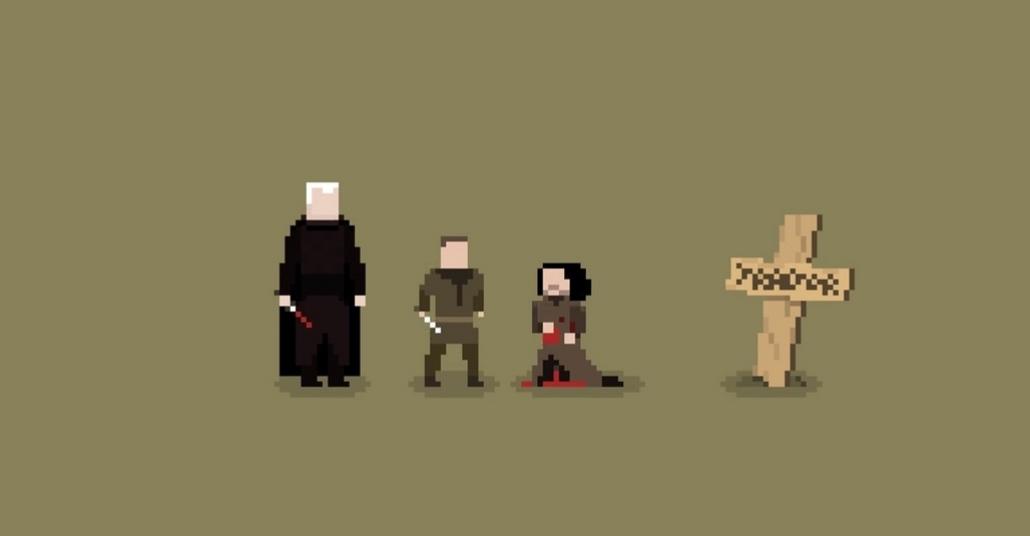 Piksel Sanatıyla Game of Thrones'daki Kilit Ölümler