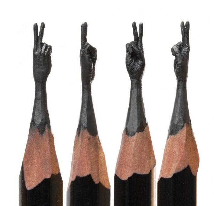 Kurşun Kalem Uçlarında Mikro Heykeller