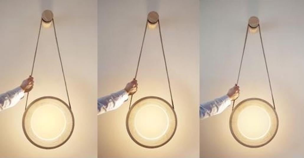 Açarken Sağa, Kapatırken Sola Dönen Tekerlekli Lamba: Halo Lamp