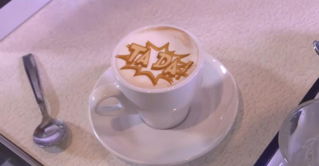 Kahve Köpüğüne Baskı Yapan Makine