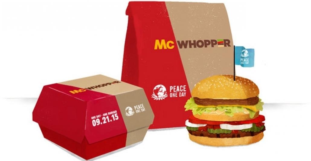 Burger King'in Dünya Barış Günü İçin Ortak McWhopper Önerisine McDonald's'tan Ret