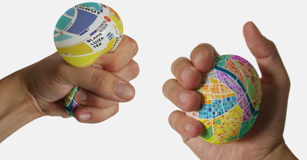 Koca Şehrin Haritası Ufacık Bir Lastik Topa Sığdı