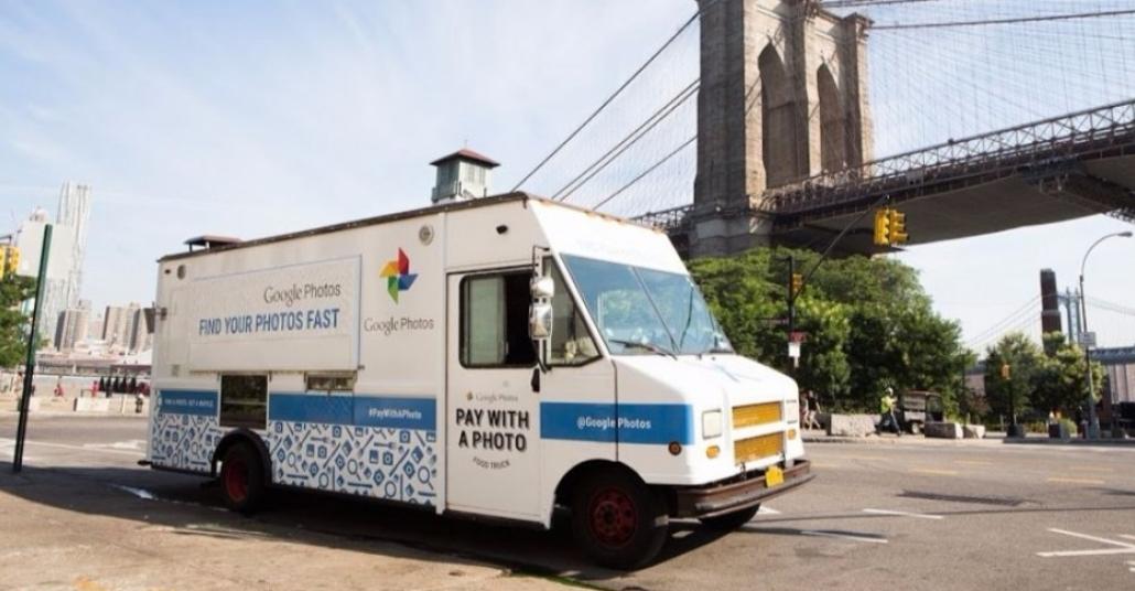 Google Photos Yiyecek Kamyonunda Ödemeler Fotoğrafla Yapılıyor