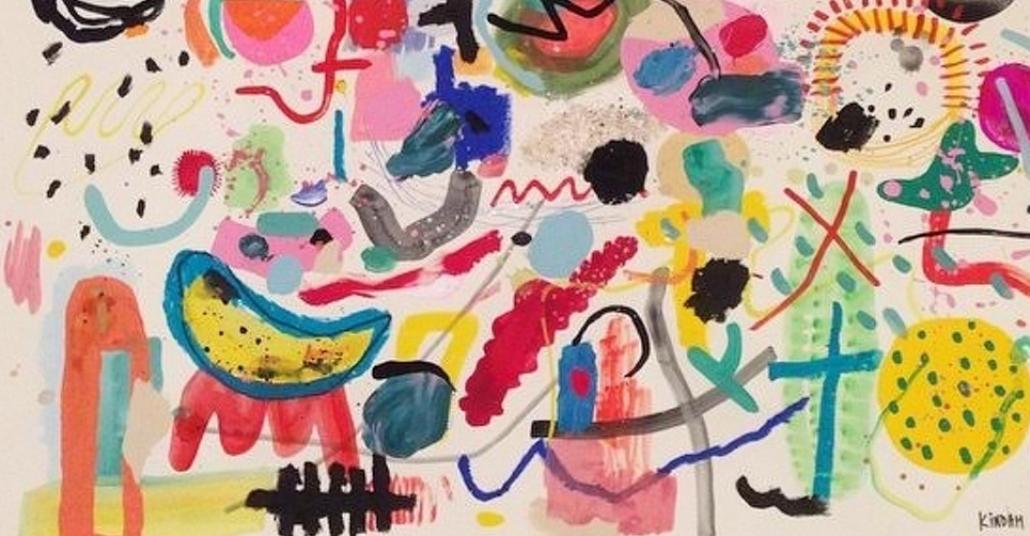 Rengarenk İmgelerin Oluşturduğu Soyut Resimler