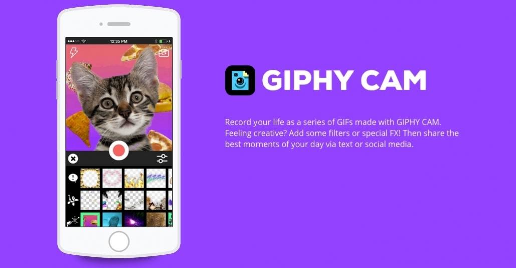 Giphy'den Mobilde GIF Yaratma Uygulaması