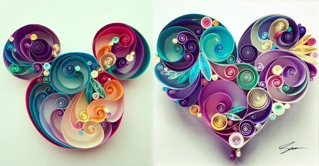 Rengarenk Kağıtların Kıvrılmasıyla Doğan Kompozisyonlar