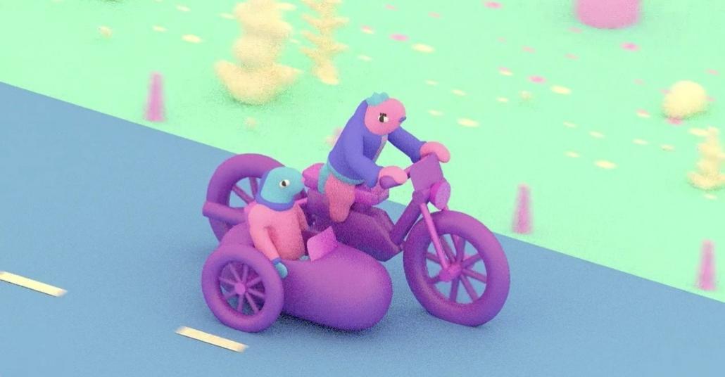 Motosiklet Kullanan Balığın Sürreal Yolculuğu