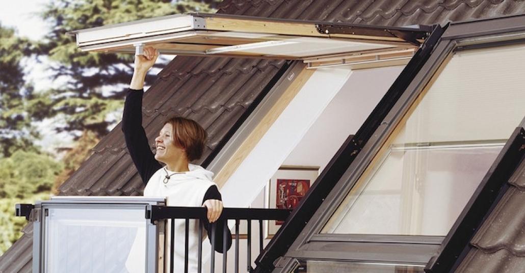 Balkona Dönüşebilen Çatı Pencereleri