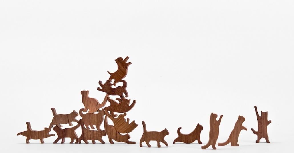 Kedilerden Kule Yapmaca: Kedili Jenga