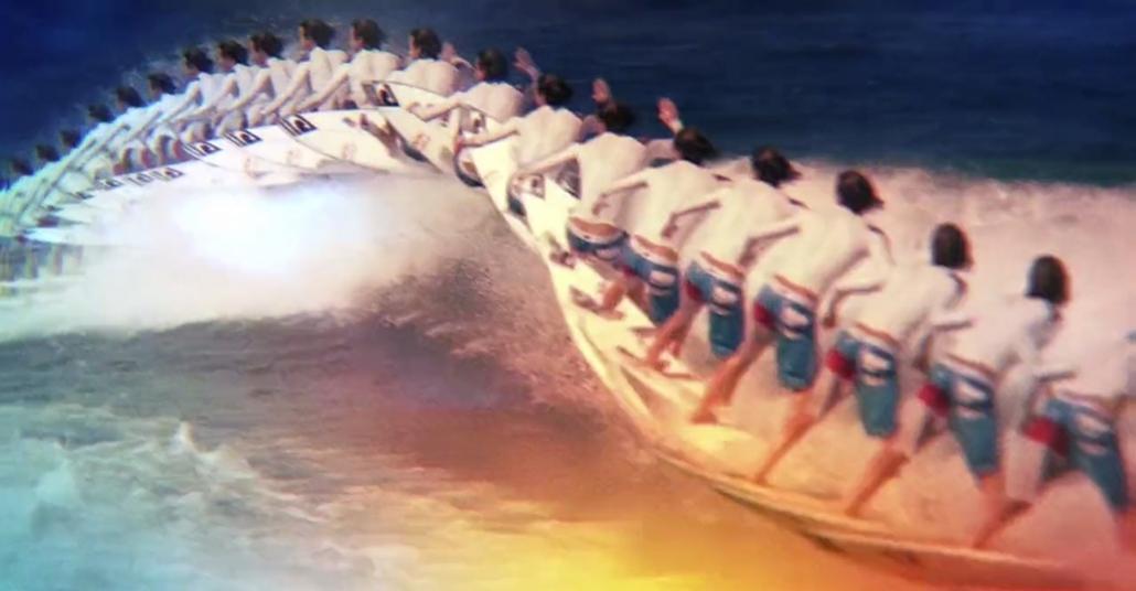 Dijital Dalgalanma ve Tekrarlarla Sıra Dışı Sörf Videosu