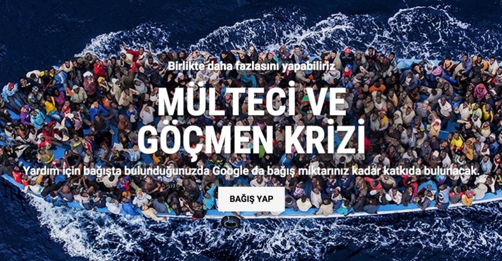 Google'dan Mülteci ve Göçmen Krizi İçin Dev Yardım Kampanyası