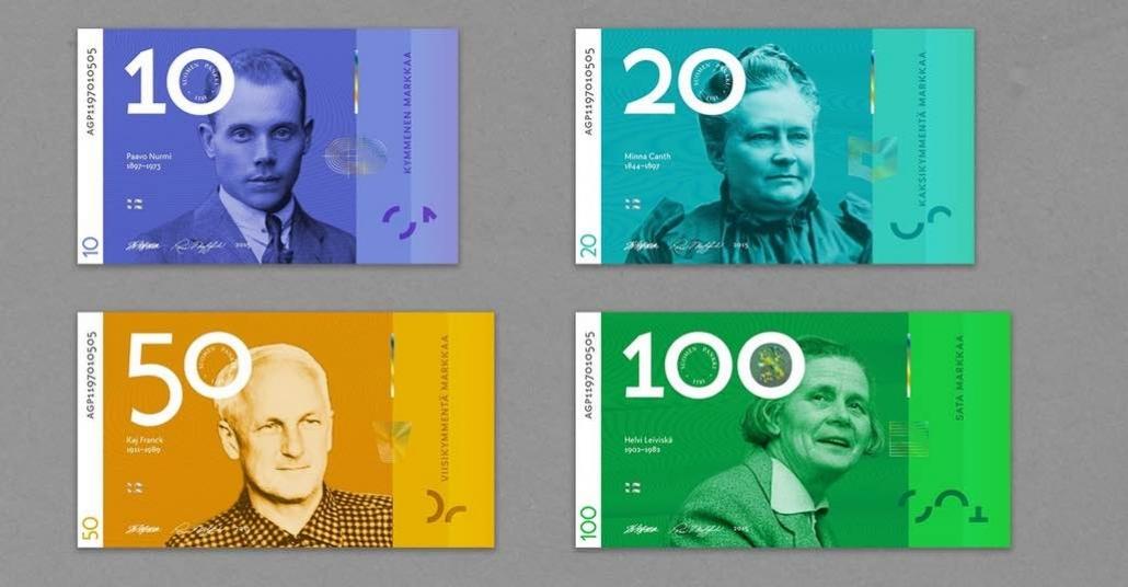 Finlandiya'nın Cinsiyet Ayırmayan Yeni Banknot Tasarımları