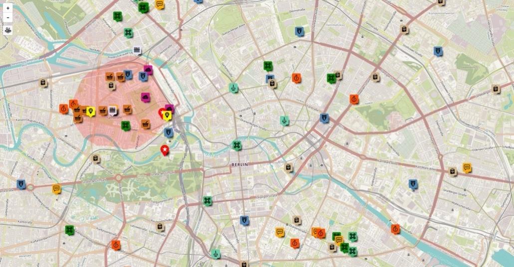 Berlin'e Gelen Mülteciler İçin Hayat Kolaylaştıran Harita