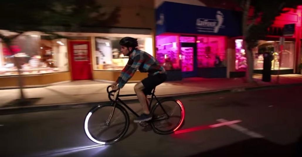 Her Açıdan Görünürlük Sağlayan Bisiklet Işıklandırma Sistemi