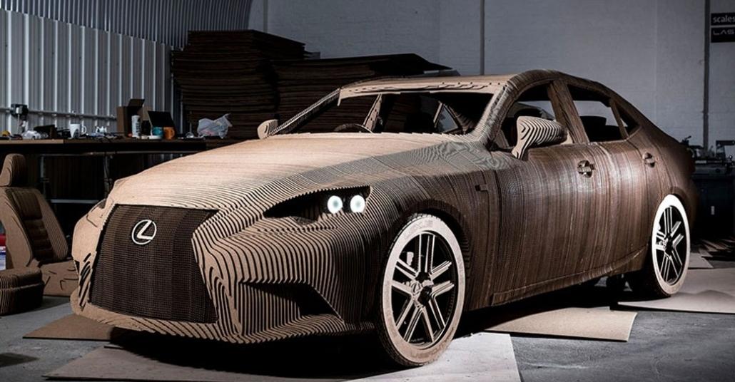 Lexus'un Tamamı Kartondan Yapılan Sürülebilir Otomobili