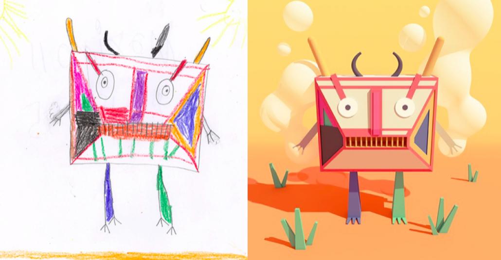 Çocukların Hayal Gücü Ve Yetenekli Sanatçılar Buluşuyor: Canavar Projesi