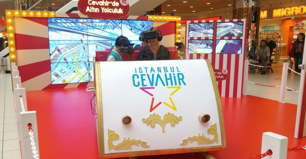 Cevahir AVM'de Sanal Gerçeklikle Roller Coaster Gezisi