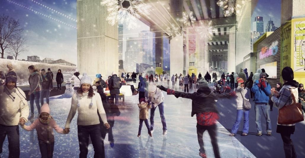 Toronto'da Otoyolun Altına İnşa Edilen Park