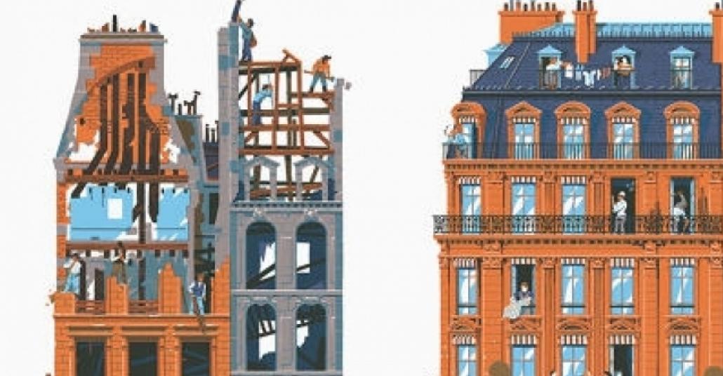 Paris'in 750 Yıllık Mimari Değişimini Anlatan İllüstrasyonlar