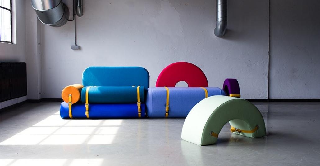 Renkli, Yapboz Oturma Grupları