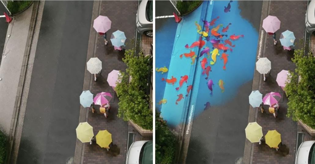 Sadece Yağmur Yağınca Beliren Rengarenk Sokak Resimleri