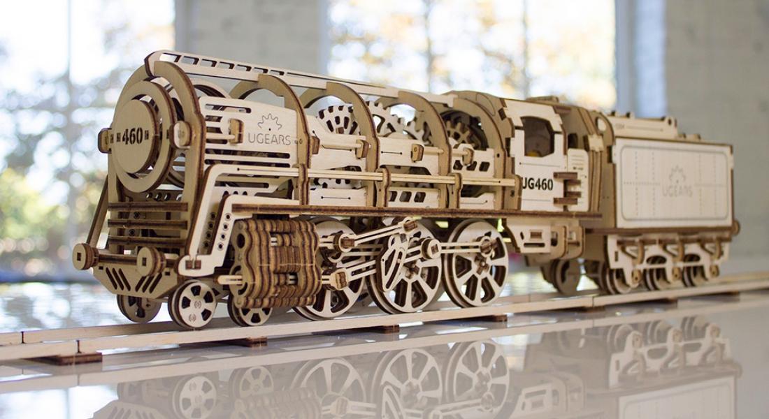 Ahşap Dişliler, Krank Milleri, Lastikten Motorlarıyla Mekanik Modeller