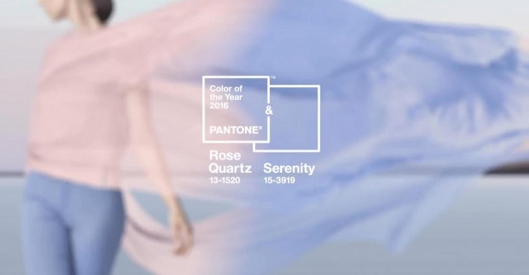 Pantone 2016 Yılının Renkleri Olarak Rose Quartz ve Serenity'yi Seçti