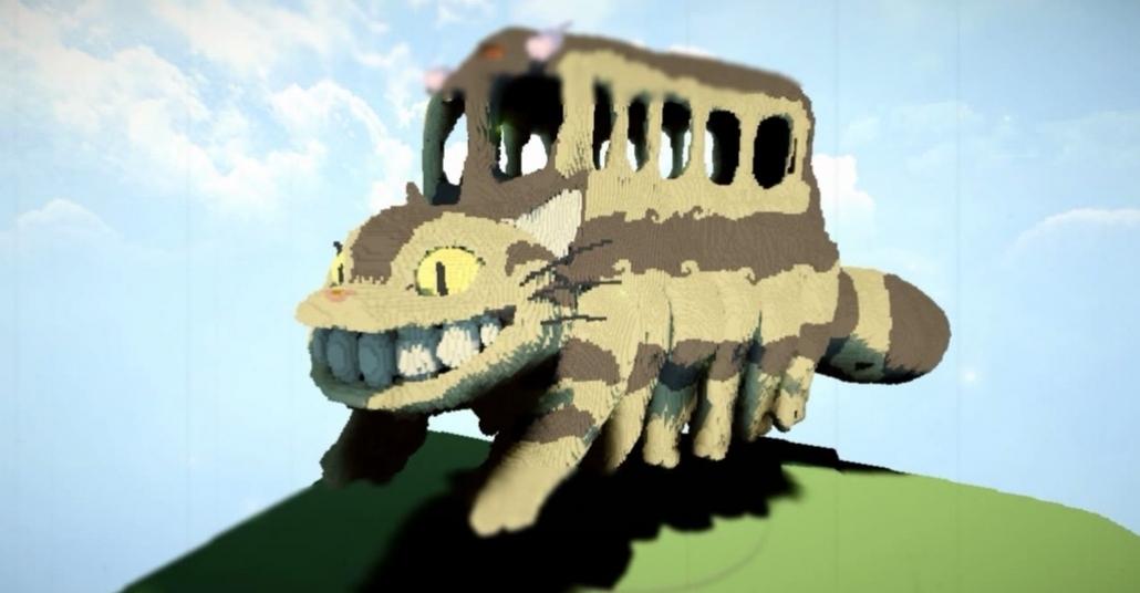 Minecraft İçinde Yaratılan Miyazaki Dünyaları